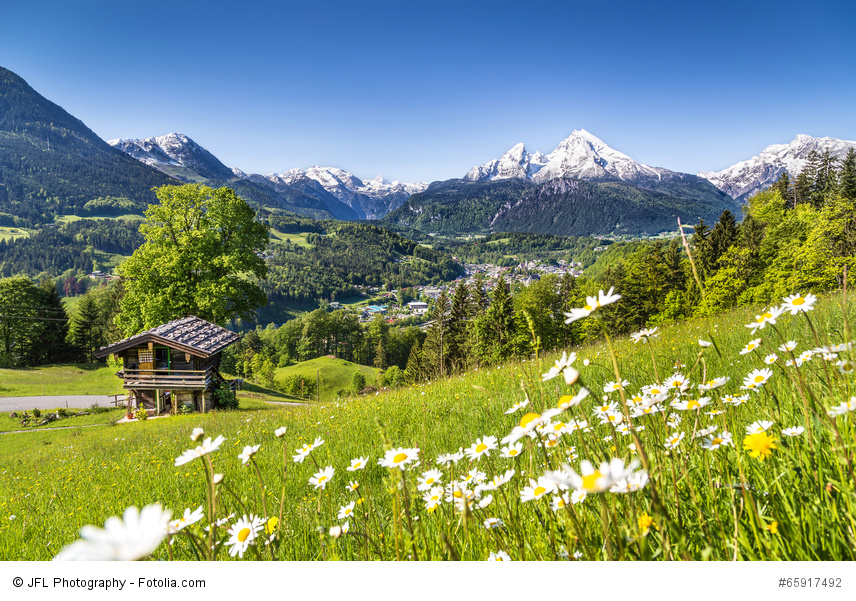 Scenic landscape in Bavarian Alps, Berchtesgaden, Germany